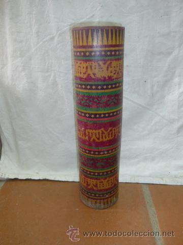 antiguo jarron pintado de bambu maranao asiatico original