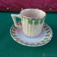 Vintage: PEQUEÑA TAZA Y PLATO CERAMICA. Lote 41475199