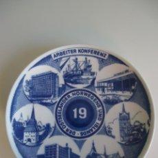 Vintage - Plato de porcelana colección Dinamarca Islands 1976 MILLHOUSE DINAMARK PLATE - 41623773