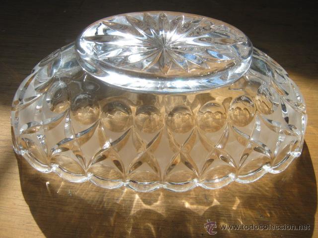 Vintage: Importante Centro de mesa Gondola Cristal 26,5 x 10,5 cm... muy pesado - Foto 2 - 41761301