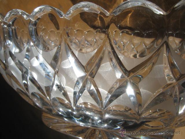 Vintage: Importante Centro de mesa Gondola Cristal 26,5 x 10,5 cm... muy pesado - Foto 3 - 41761301
