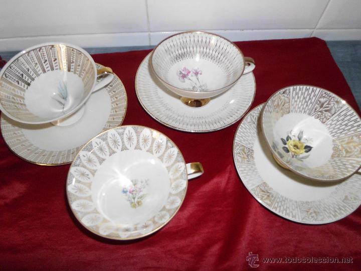 CONJUNTO DE TAZAS DE COLECCIÓN BAVARIA (Vintage - Decoración - Porcelanas y Cerámicas)