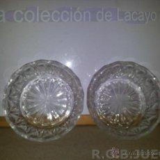 Vintage: 2 CUENCOS DE CRISTAL TALLADO PARA APERITIVOS AÑOS 70. Lote 42188329