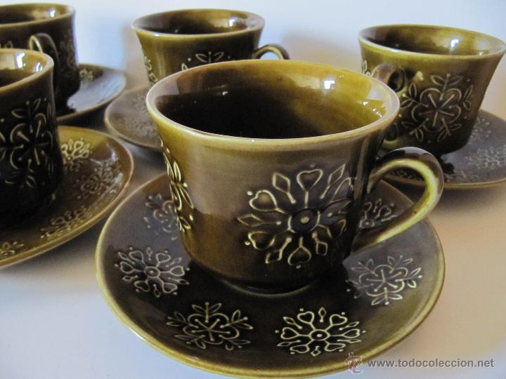LOTE 5 TAZAS Y 5 PLATOS PONTESA MODELO ESCOCIA (Vintage - Decoración - Porcelanas y Cerámicas)