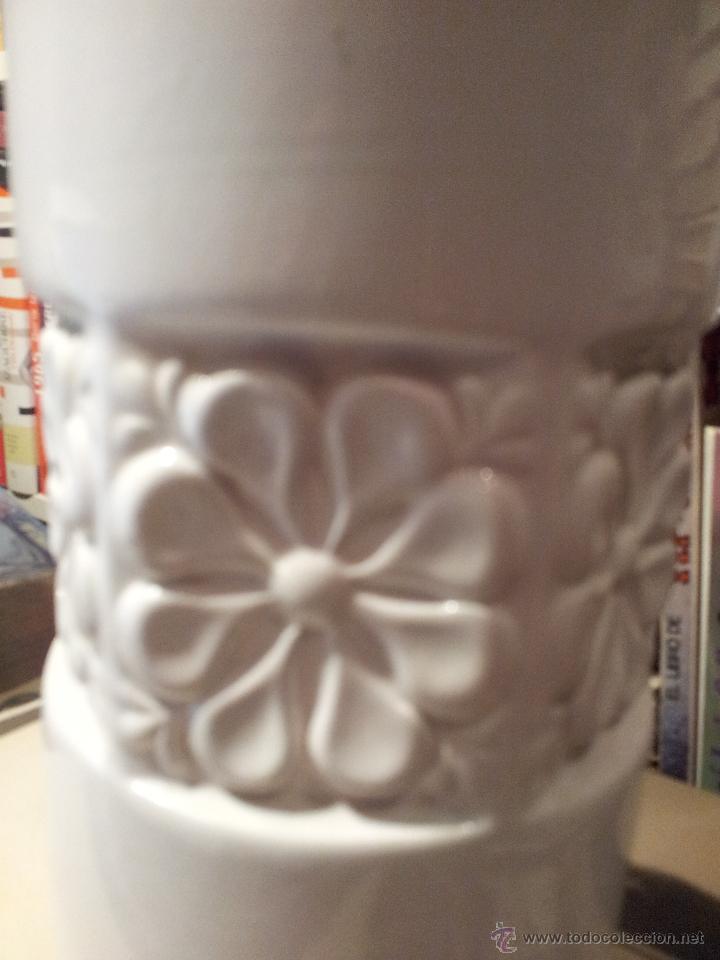 Vintage: Jarrón de loza blanco años 80 - Foto 2 - 42317419