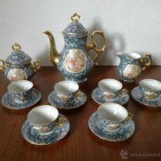 Vintage: JUEGO CAFE 6 SERVICIOS . ORO DE LEY. SELLO CIM. Lote 42379308