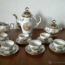 Vintage: JUEGO CAFE 6 SERVICIOS . PLATA DE LEY. SELLO CIM. Lote 42379380