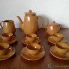 Vintage: JUEGO CAFE DE BARRO 6 SERVICIOS. Lote 42399653