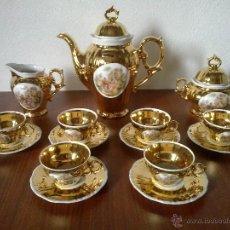 Vintage: JUEGO CAFE 6 SERVICIOS . ORO DE LEY. SELLO CIM. Lote 42411068
