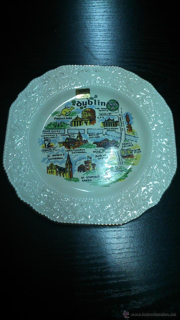 PLATO DE DUBLIN. (Vintage - Decoración - Porcelanas y Cerámicas)