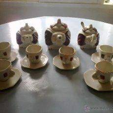 Vintage: JUEGO CAFE 6 SERVICIOS . ELEFANTES. Lote 175680912