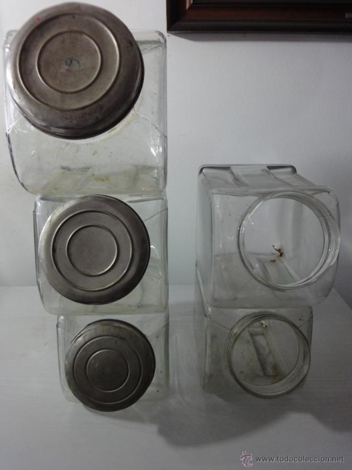 Lote 3 tarros de cristal con tapa confiteria ta vendido for Tarros de cristal vintage