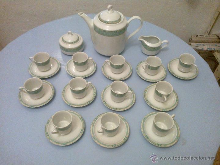 JUEGO CAFE 12 SERVICIOS . GURAL. (Vintage - Decoración - Porcelanas y Cerámicas)