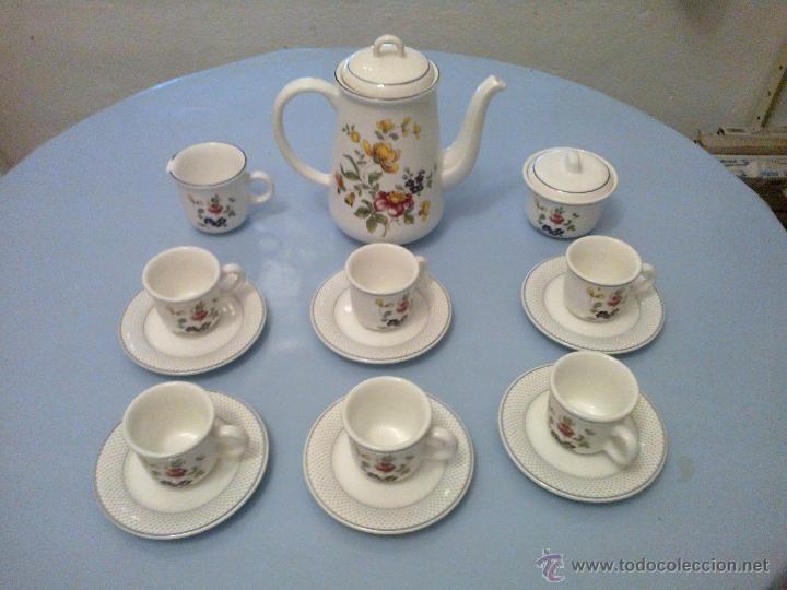 JUEGO CAFE 6 SERVICIOS . (Vintage - Decoración - Porcelanas y Cerámicas)