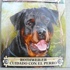 Vintage: AZULEJO VINTAGE CUIDADO CON EL PERRO ROTTY ROTHWEILER ROTTWEILER. Lote 100883775