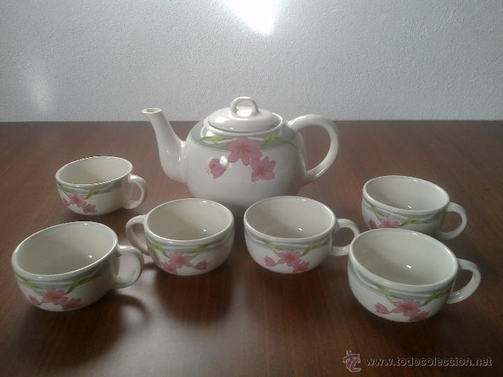 JUEGO CAFE 6 SERVICIOS (Vintage - Decoración - Porcelanas y Cerámicas)