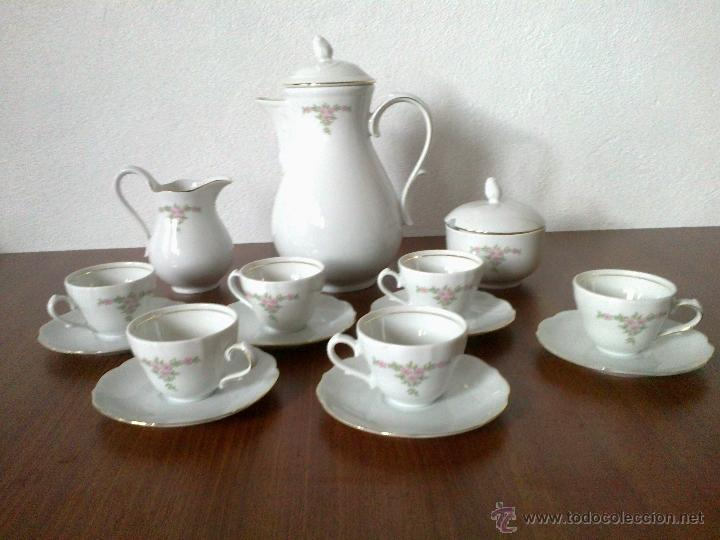 JUEGO CAFE 12 SERVICIOS . BAVARIA . (Vintage - Decoración - Porcelanas y Cerámicas)