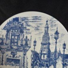 Vintage: PRECIOSO PLATO DE CERÁMICA, GIRALDA DE SEVILLA, RECUERDO EXPO 92. Lote 42573960
