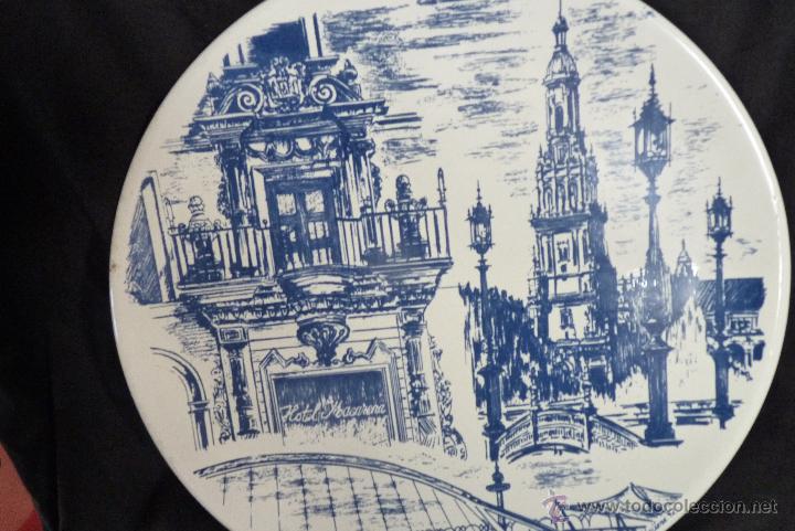 Vintage: PRECIOSO PLATO DE CERÁMICA, GIRALDA DE SEVILLA, RECUERDO EXPO 92 - Foto 4 - 42573960