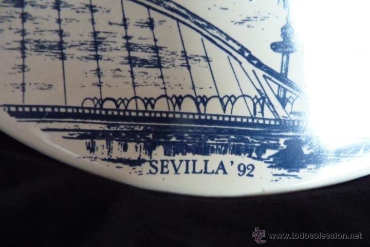 Vintage: PRECIOSO PLATO DE CERÁMICA, GIRALDA DE SEVILLA, RECUERDO EXPO 92 - Foto 5 - 42573960