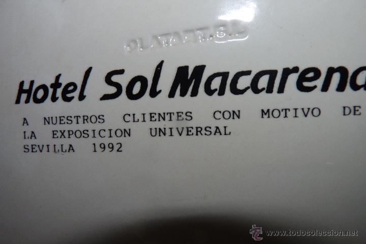 Vintage: PRECIOSO PLATO DE CERÁMICA, GIRALDA DE SEVILLA, RECUERDO EXPO 92 - Foto 7 - 42573960