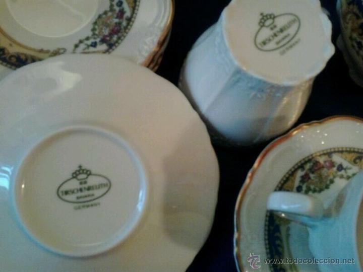 Vintage: JUEGO CAFÉ 12 servicios porcelana alemana TIRSCHENREUTH - Foto 2 - 42590751