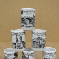 Vintage - SIETE VASITOS DE PORCELANA DE LUXEMBURGO. - 42666484