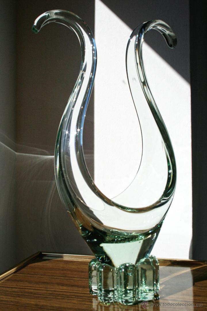 CENTRO CRISTAL MURANO (Vintage - Decoración - Cristal y Vidrio)