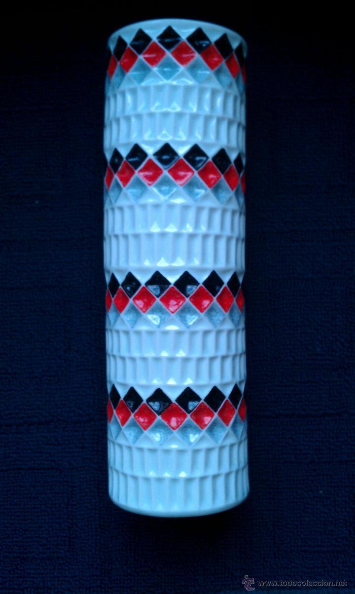 JARRON DE CASTRO SARGADELOS 28 X 9 CM. (Vintage - Decoración - Porcelanas y Cerámicas)