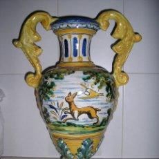 Vintage: JARRÓN DE TALAVERA ANTIGUO. Lote 42847603