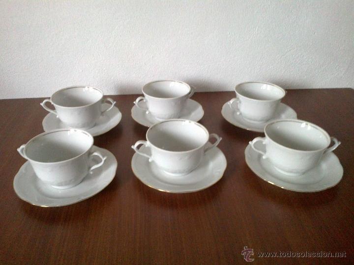 Vintage: JUEGO CAFE 12 SERVICIOS Y JUEGO CONSOME 6 SERVICIOS. SELLO POLONIA - Foto 2 - 42934949
