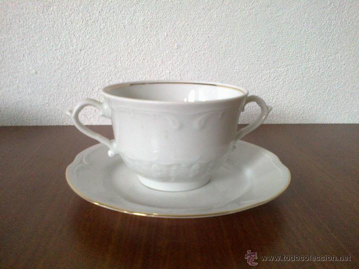 Vintage: JUEGO CAFE 12 SERVICIOS Y JUEGO CONSOME 6 SERVICIOS. SELLO POLONIA - Foto 3 - 42934949