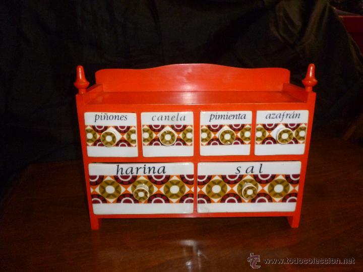 ESPECIERO VINTAGE (Vintage - Decoración - Porcelanas y Cerámicas)