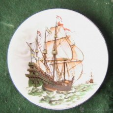 Vintage: PLATO DE PORCELANA SELLO DRESDEN - BARCO DE NAVEGACION - BOATS. Lote 42966899