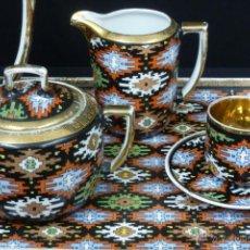 Vintage: JUEGO DE CAFÉ CON BANDEJA (TU Y YO) PORCELANA CHECA. Lote 43257042