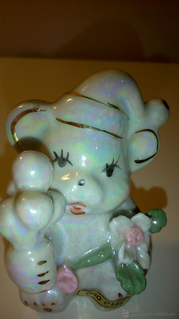 OSO CON GORRO (Vintage - Decoración - Porcelanas y Cerámicas)