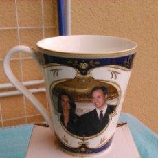 Vintage: TAZA DE PORCELANA FINE BONE CHINA - ROYAL WEDDING 2011 - KATE MIDDLETON Y EL PRÍNCIPE GUILLERMO. Lote 192735057