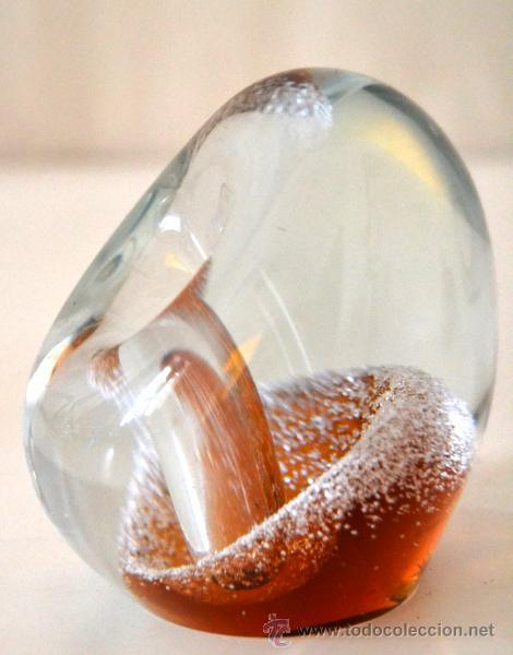 PORTAPLUMAS PISAPAPELES DE CRISTAL * MURANO (Vintage - Decoración - Cristal y Vidrio)