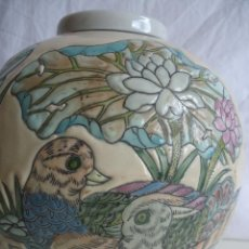 Vintage: TIBOR CHINO A LA CUERDA PORCELANA CHINA BOTE PARA GUARGAR EL JENGIBRE GINGER JAR. Lote 43377284