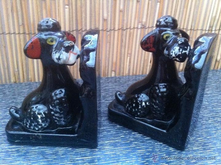 Vintage: pareja de apoyalibros/ sujetalibros/ aguantalibros vintage años 50 perros caniche mid century kitsch - Foto 3 - 43416895
