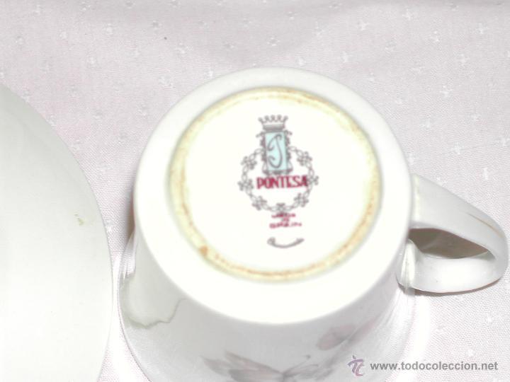 Vintage: VINTAGE -- Delicado juego de Café / Te --- PONTESA CHINAMODA - Hecho en España. - Foto 5 - 43623062