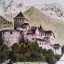 Vintage: PLATO DE PORCELANA. CASTILLO LIECHTENSTEIN SCHLOSS VADUZ.PORZELLAN-A OTTLINGER SEVELEN. Lote 43728714