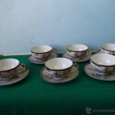 Vintage: 6 TAZAS Y 6 PLATOS PORCELANA ORIENTAL. Lote 43865130