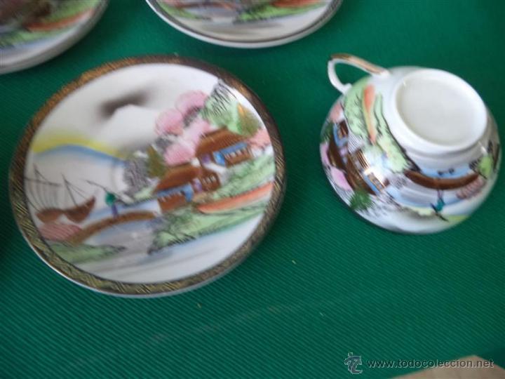 Vintage: 6 tazas y 6 platos porcelana oriental - Foto 3 - 43865130