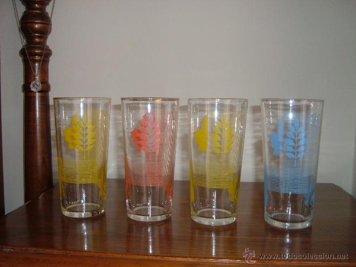 Vintage: 4 vasos serigrafiados - Foto 2 - 44011755