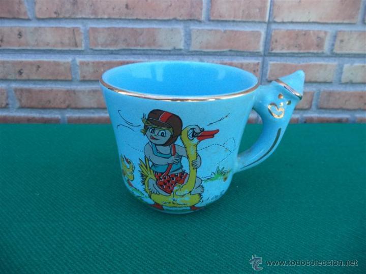 TAZA CERAMICA NIÑO (Vintage - Decoración - Porcelanas y Cerámicas)