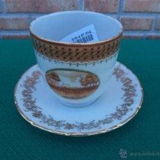 Vintage: TAZA Y PLATO PORCELANA. Lote 44017333