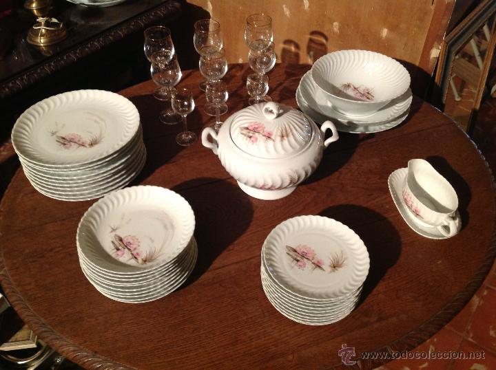 VAJILLA DE LIMOGES EN PORCELAINE / FRANCESA MODÉLE EXCLUSIF (Vintage - Decoración - Porcelanas y Cerámicas)