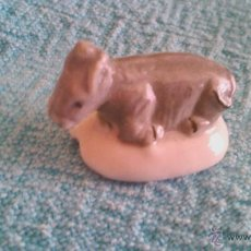 Vintage - Figura de porcelana del roscón de reyes. Burro - 44529818