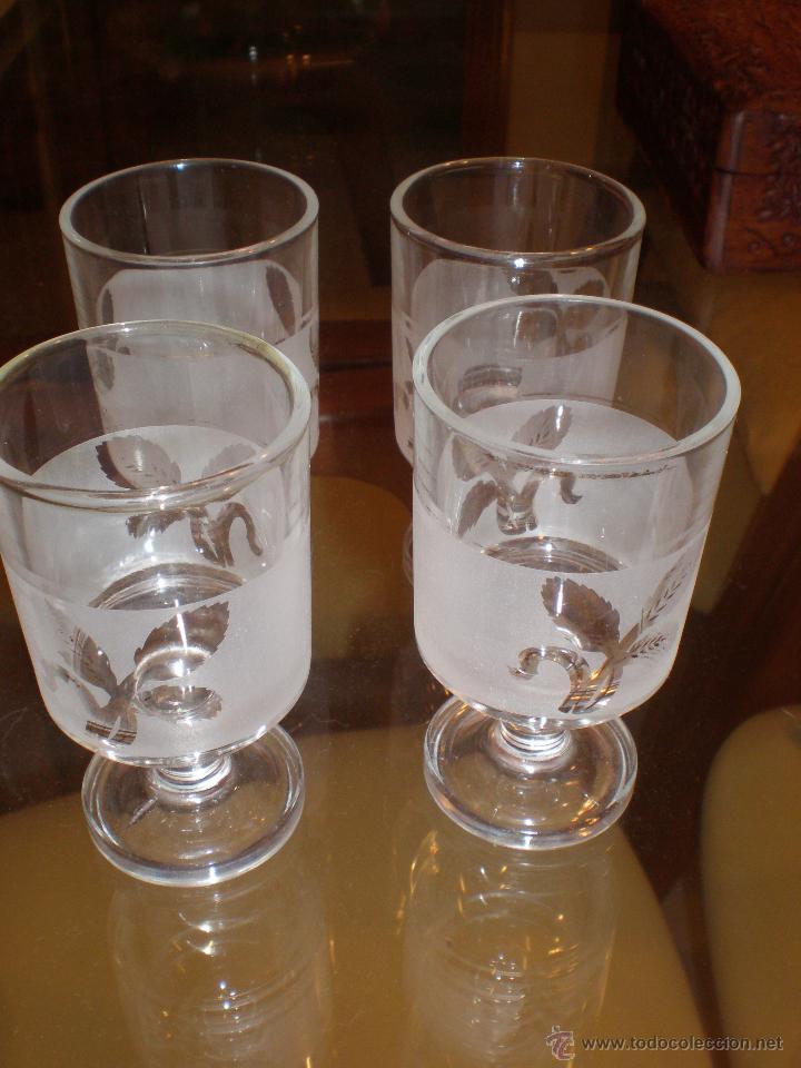 Vintage: Lote de 4 copas licor con dibujo espiga retro o vintage - Foto 2 - 44731442